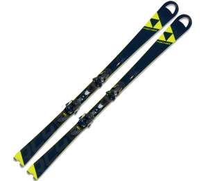 FISCHER SKI SET RC4 WC SC CB YELLOW BASE + RC4 Z13 FREEFLEX BRAKE 85